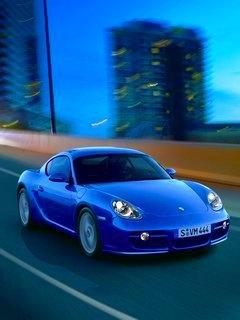 Blue Mini Car Mobile Wallpaper
