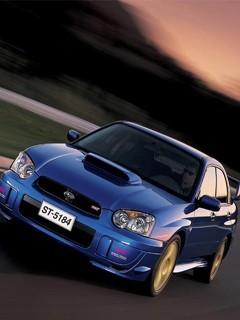 Blue Car 1 Mobile Wallpaper