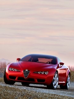 Red Sports Car 1 Mobile Wallpaper