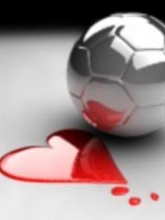 Foot Ball Heart Mobile Wallpaper