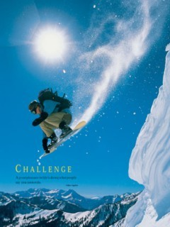 Challenge Snowboarder Mobile Wallpaper