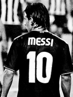 Messi In Black Mobile Wallpaper