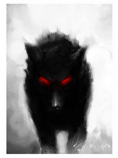 Dark Wolf Mobile Wallpaper