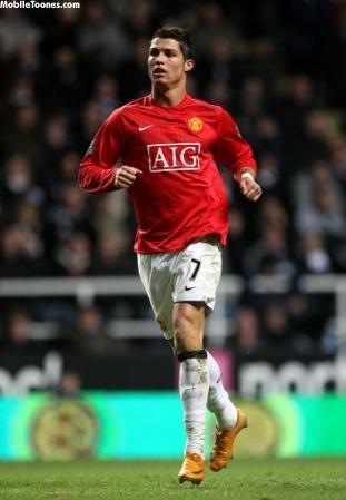 Cristiano Ronaldo By Manchester United Mobile Wallpaper