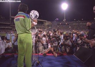 Imran Khan - Pakistan World Cup Winners Mobile Wallpaper