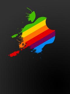 Apple Colorfull Logo Mobile Wallpaper
