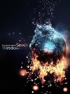 Windows 7 Fire Mobile Wallpaper