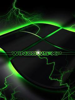 Green Windows Xp Mobile Wallpaper