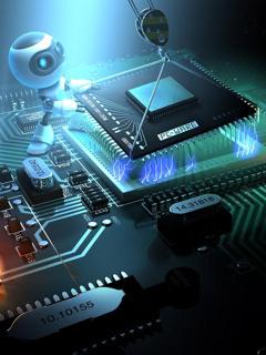 Processor Chip Mobile Wallpaper