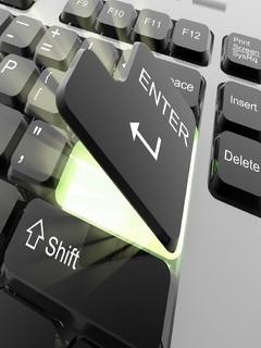 Enter Keyboard Mobile Wallpaper