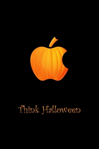 Apple Think Halloween IPhone Wallpaper Mobile Wallpaper