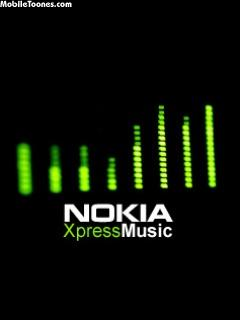 Nokia XpressMUSIC Green Mobile Wallpaper