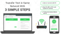 TexFer: Free Text Transfer Between Mobile Desktop Free Mobile Softwares