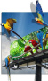 3D Parrots Free Mobile Wallpapers