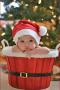 Adorable Baby In Xmas Hat wallpapers