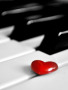 Heart On Piano wallpapers