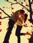 Kiss On Tree wallpapers