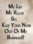 MY Life My Rules wallpapers