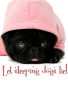 Sweet Pink Dog Black wallpapers