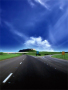 Blue Cloudy Sky And Road View Wallpaper wallpapers