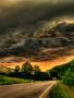 Dark Sky And Road wallpapers
