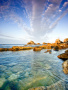 Clouds Sea Stones wallpapers