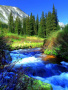 Blue Falls Free Mobile Wallpapers
