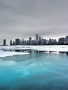 Frozen Lake And City wallpapers