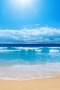 Lovely Blue Nature Beach IPhone Wallpaper wallpapers