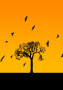 Bird Flying On The Up Tree wallpapers