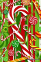 Christmas Sweet Colors Sticks IPhone Wallpaper wallpapers