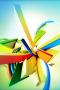 Colors 3D Stripes IPhone Wallpaper wallpapers