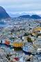 Colors Houses In Norwegian Town IPhone Wallpaper wallpapers