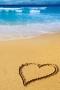 Beach Heart IPhone Wallpaper wallpapers