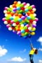 Rainbow Balloons With Girl IPhone Wallpaper wallpapers