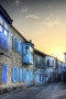 Alacati Blue Houses In Turkey IPhone Wallpaper wallpapers