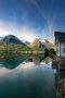 House & Mountain Norway Lake IPhone Wallpaper wallpapers