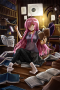 Anime Studying In Room IPhone Wallpaper wallpapers