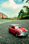 Mini Cooper Red On Road IPhone Wallpaper wallpapers