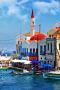 Beautiful Greece Sea House IPhone Wallpaper wallpapers