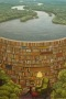 Books Library Jacek Yerka IPhone Wallpaper wallpapers