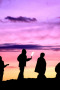 People & Purple Sky IPhone Wallpaper wallpapers