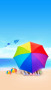 Beac Rainbow Umbrella IPhone Wallpaper wallpapers