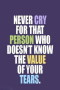 Never Cry That Person IPhone Wallpaper wallpapers