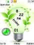 Bulb Dual Clock Nokia Theme themes