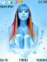 Blue And Color Hair Girl Free Mobile Themes