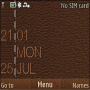 Leather Clock themes