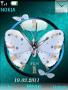 Butterfly Clock themes