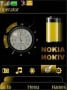 Nokia Clock Golden themes