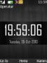 Nokia Black Clock themes